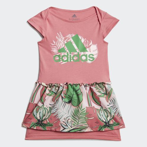 Adidas Flower Print Summer Çocuk Pembe Takım (GM8969)