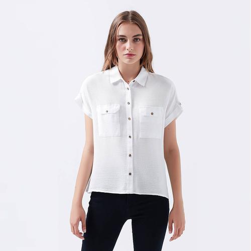 Mavi Double Kadın Beyaz Gömlek (122487-620)