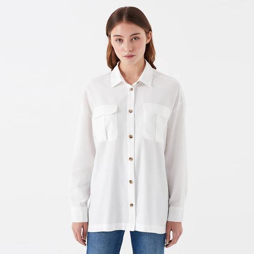 Mavi Kadın Beyaz Gömlek (122418-30701)