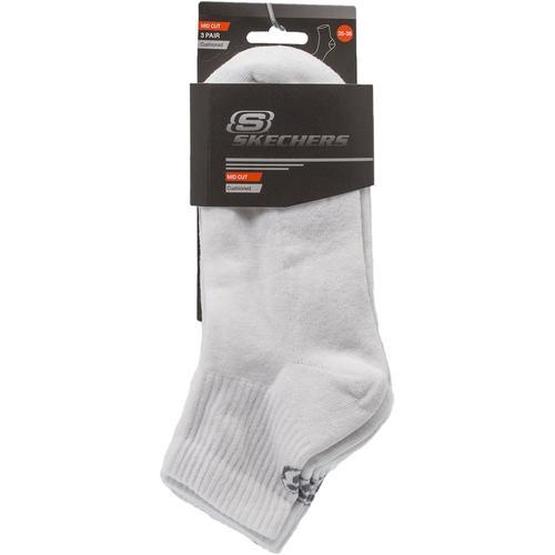 Skechers Padded Mid Cut 3 ' Lü Beyaz Çorap (S192136-100)