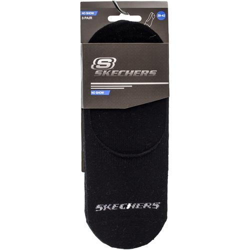 Skechers No Show Socks 3 ' Lü Siyah Spor (S192134-001)