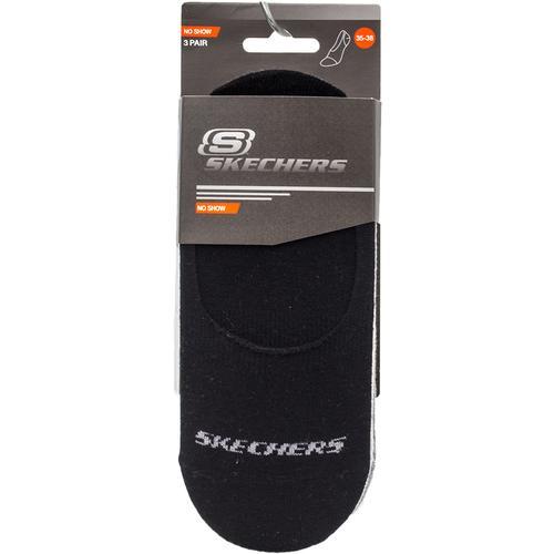 Skechers No Show Socks 3 Renk Çorap (S192134-900)