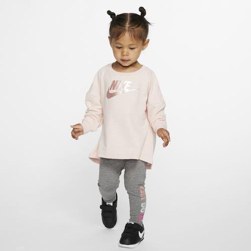 Nike Multi Shine Leggin Set Bebek Pembe Sweatshirt (16F574-GEH)