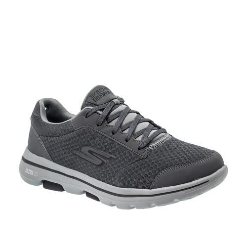 Skechers Go Walk 5 - Quaify Erkek Gri Spor Ayakkabı (55509-CCBK)