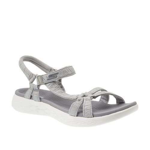 Skechers On-The-Go 600 Kadın Gri Sandalet (16178-GRY)