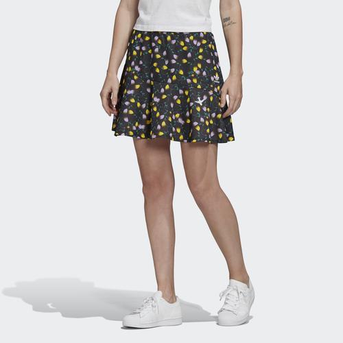 adidas Aop Kadın Siyah Çiçek Desenli Etek (FL4103)