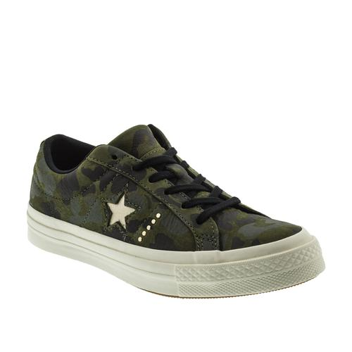 Converse One Star OX Kadın Kamuflaj Spor Ayakkabı (159703C)