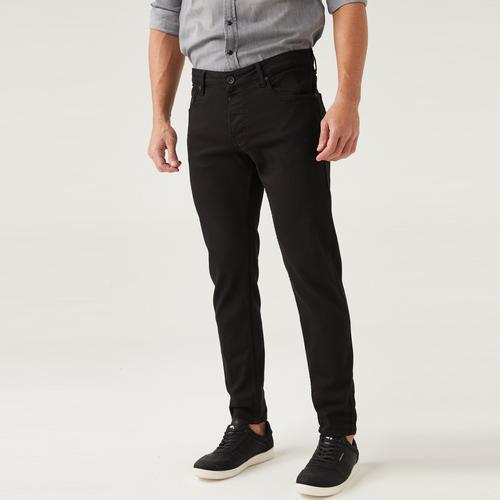 Five Pocket Erkek Siyah Jean Pantolon (7294-F232)