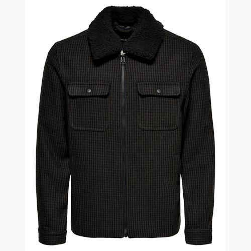 Jack & Jones Ross New Check Erkek Siyah Ceket (22017489-B)