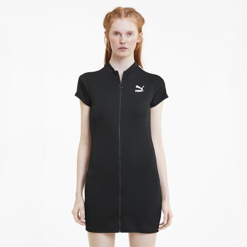 Puma Classics Ribbed Kadın Siyah Elbise (597647-01)