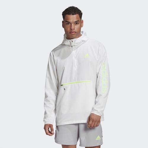 adidas Activated Tech Primeblue Erkek Beyaz Rüzgarlık (GD5330)