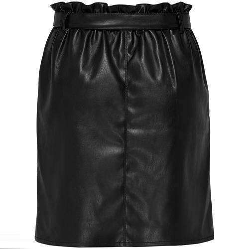 Only Rigie Pu Paper Kadın Siyah Etek (15162797-B)