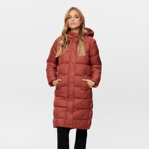 Only Cammie Long Quilted Kadın Bordo Mont (15182358-BHA)