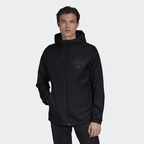 adidas Brilliant Basics Erkek Siyah Rüzgarlık (GD3837)