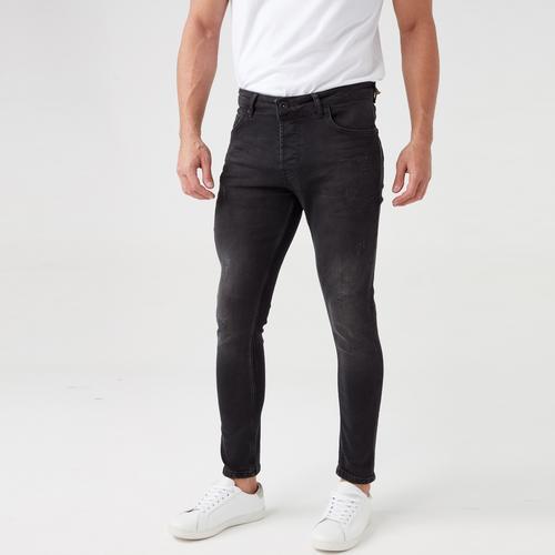 Five Pocket Erkek Siyah Jean Pantolon (7253-G710)