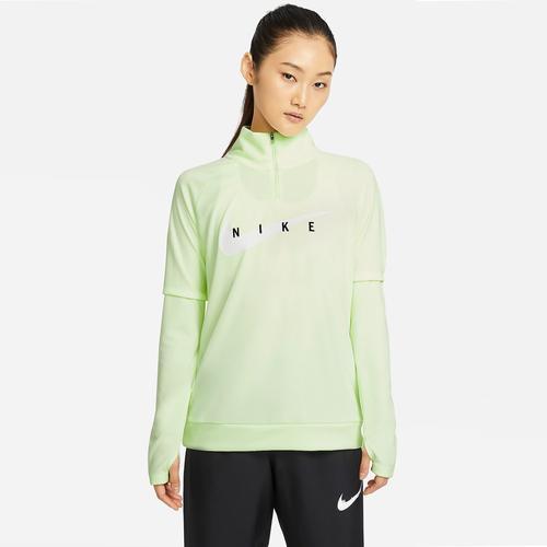 Nike Swoosh Run Kadın Sarı Sweatshirt (CZ9231-701)