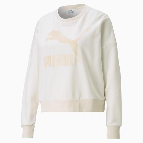 Puma Classics Logo Kadın Beyaz Sweatshirt (599573-99)