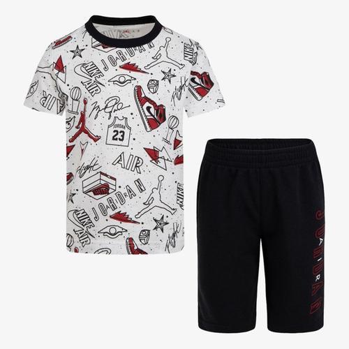 Nike Jordan Fun Flight  Aop Çocuk Beyaz Takım (75A398-023)