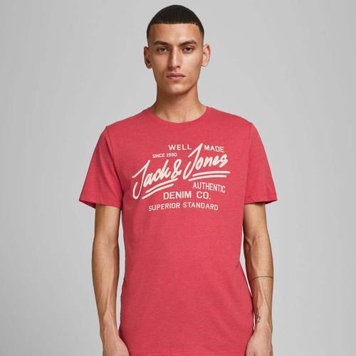 Jack & Jones Logo Erkek Kırmızı Tişört (12177533-TRM)