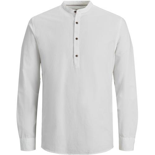 Jack & Jones Bla Summer Band Erkek Beyaz Gömlek (12183320-W)