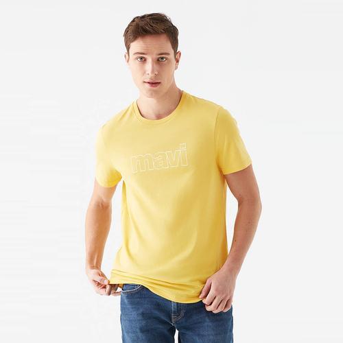 Mavi Logo Erkek Sarı Tişört (065781-33408)