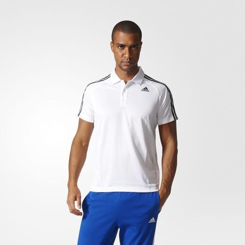 adidas D2M 3-Stripes Erkek Beyaz Polo Tişört (BK2602)