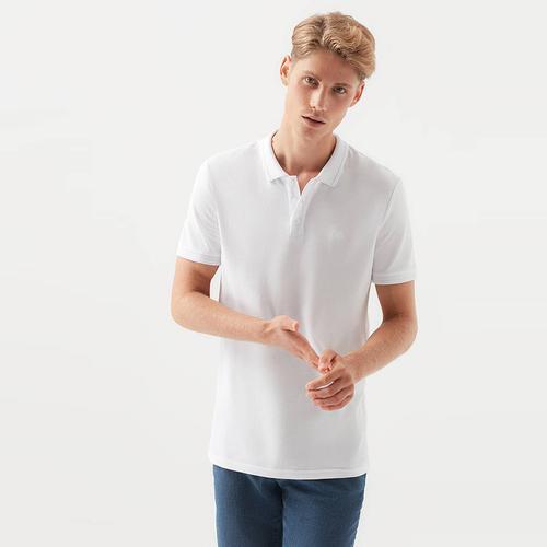 Mavi Erkek Beyaz Polo Tişört (064946-27879)
