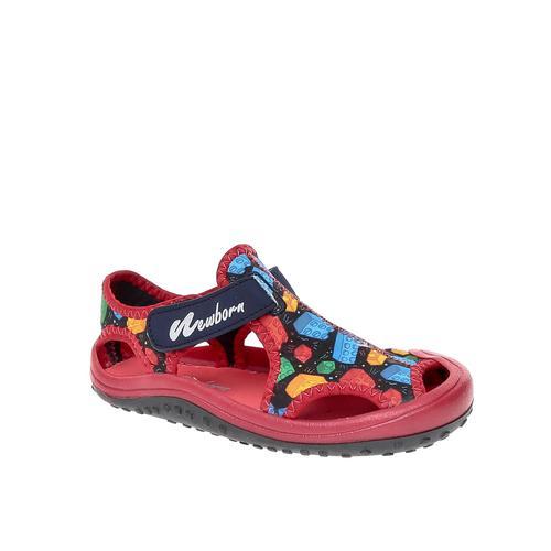 Newborn Lego Çocuk Kırmızı Sandalet (NAQ5010-BLG)