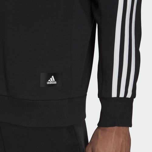 adidas Sportswear 3-Stripes Erkek Siyah Sweatshirt (GM6463)