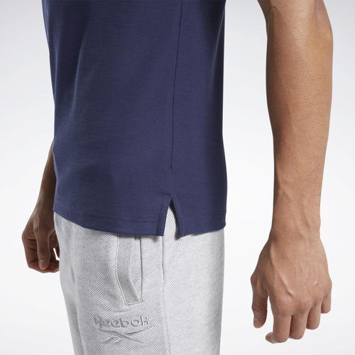 Reebok Training Essentials Erkek Mavi Polo Tişört (FU3095)