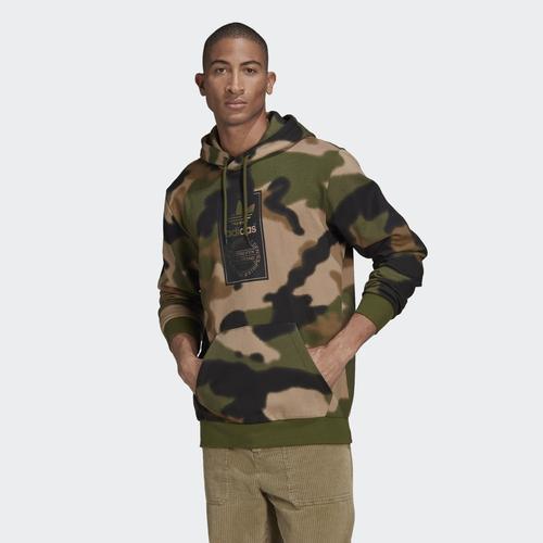adidas Camo Allover Print Erkek Yeşil Sweatshirt (GN1879)