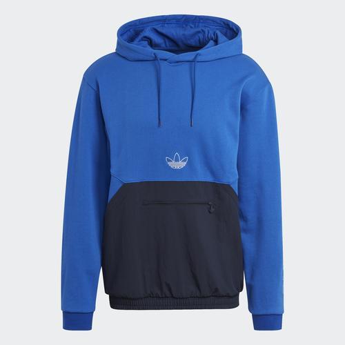 adidas SPRT Archive Mixed Material Erkek Mavi Sweatshirt (GN2449)