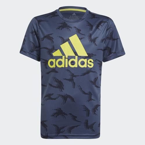 adidas Designed To Move Camouflage Çocuk Mavi Tişört (GN1487)