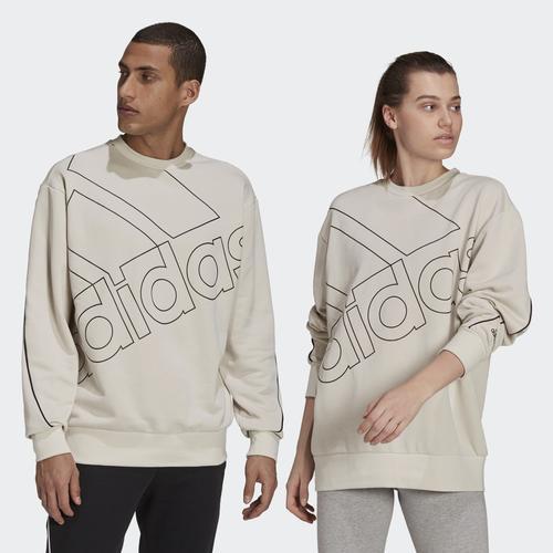 adidas Giant Logo Bej Sweatshirt (GK9373)