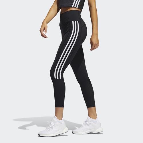 adidas Believe This 2.0 3-Stripes Ribbed 7/8 Kadın Siyah Tayt (GL0578)
