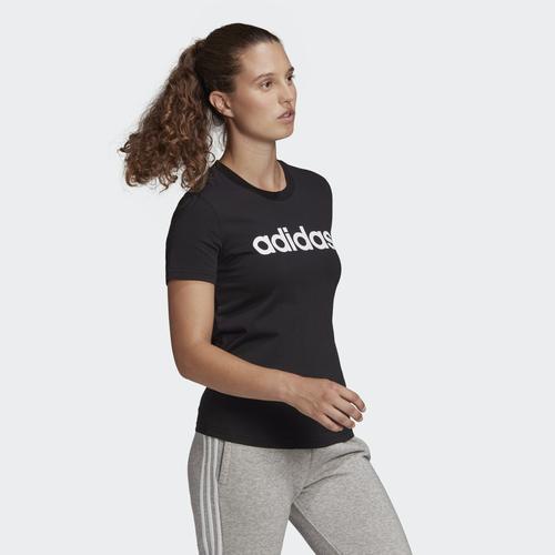 adidas Loungewear Essentials Slim Logo Kadın Siyah Tişört (GL0769)