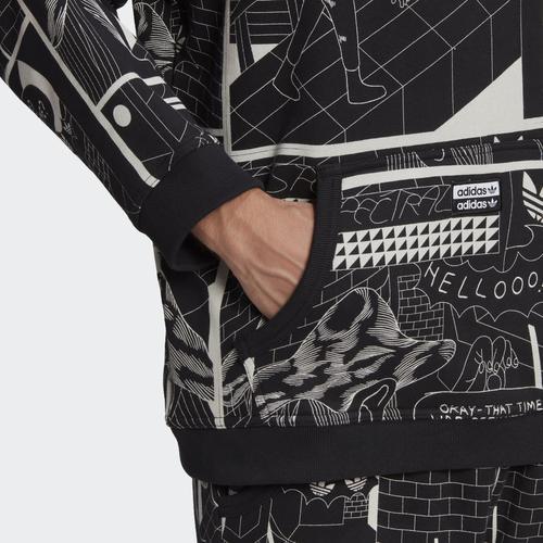 adidas R.Y.V. Graphic  Erkek Siyah Sweatshirt (GN3345)