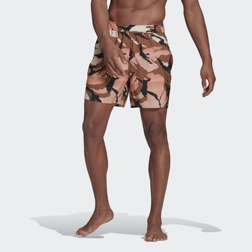 adidas Short-Length Graphic Erkek Kahverengi Mayo Şort (GM2254)