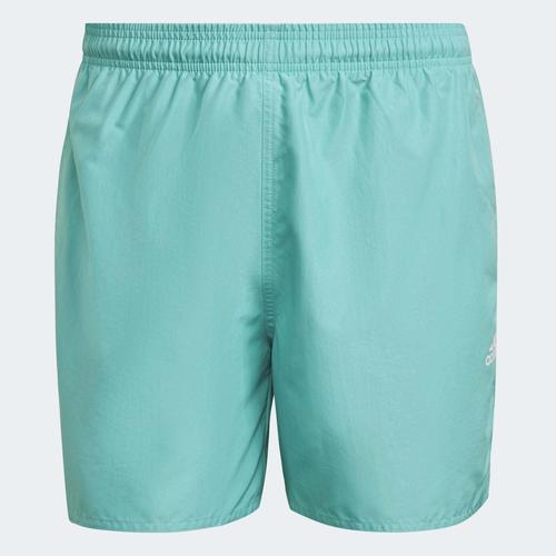 adidas Solid Erkek Yeşil Mayo Şort (GQ1080)