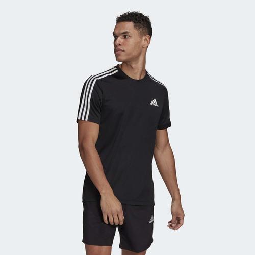 adidas AEROREADY Designed To Move Sport 3-Stripes Erkek Siyah Tişört (GM2105)
