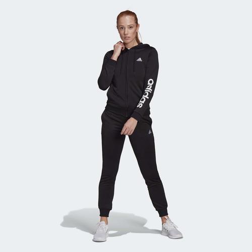 adidas Essentials Logo French Terry Kadın Siyah Eşofman Takımı (GM5575)