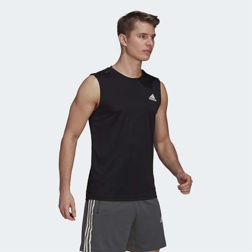 adidas Aeroready Designed TO Move Sport 3-Stripes Erkek Siyah Atlet (GM2130)