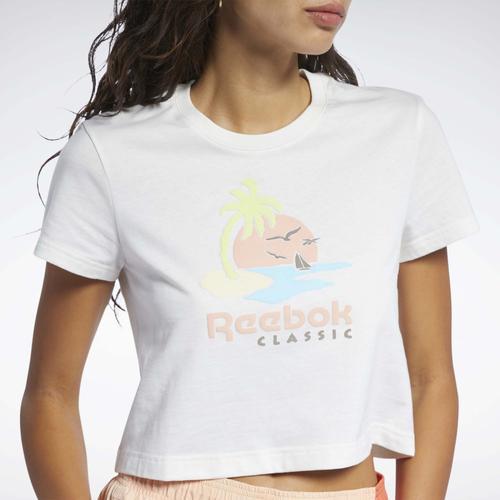 Reebok Classics Graphic Kadın Beyaz Tişört (GK6766)