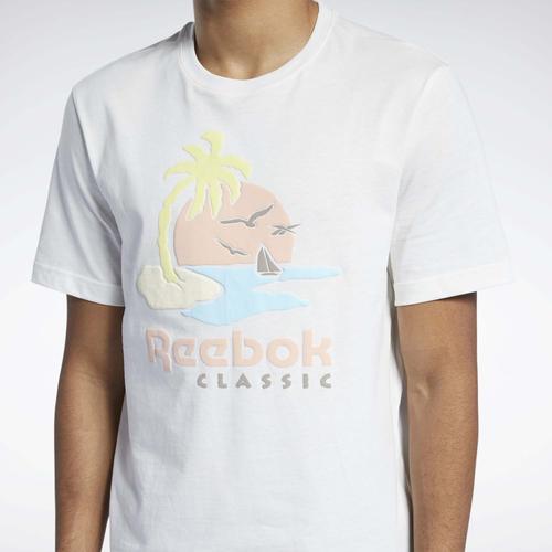 Reebok Classics Graphic Erkek Beyaz Tişört (GN3670)