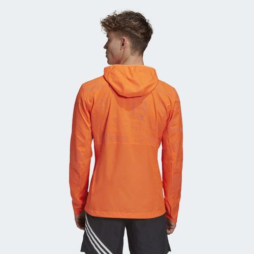 adidas  Adidas Own the Run Reflektörlü Erkek Turuncu Rüzgarlık (GC7933)