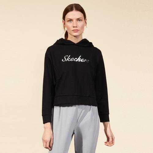 Skechers 2XI-Lock Kadın Siyah Sweatshirt (S211298-001)