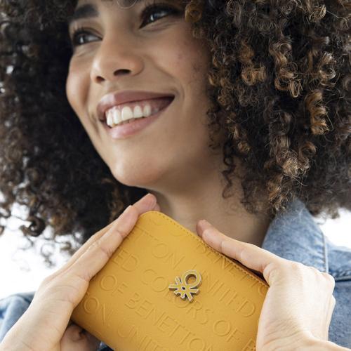 United Colors Of Benetton Kadın Sarı Cüzdan (BNT394-HAR)
