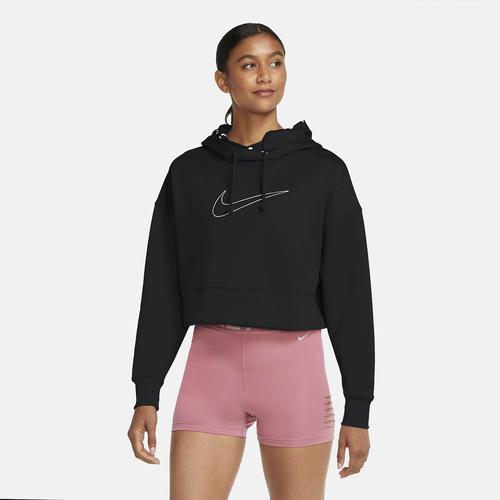 Nike Therma Cropped Pullover Training Kadın Siyah Sweatshirt (CZ1101-011)