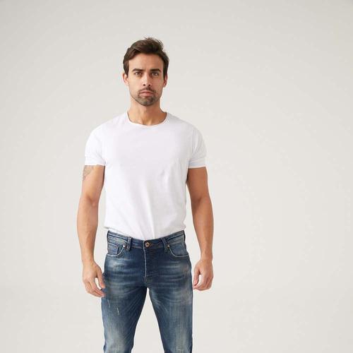 Five Pocket Backet Erkek Mavi Jean Pantolon (7121-S784)