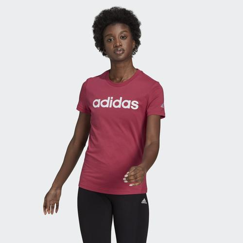 adidas LOUNGEWEAR Essentials Slim Logo Kadın Pembe Tişört (GL0775)